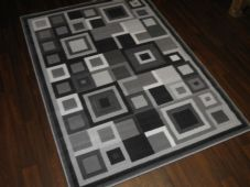 Modern Approx 6x4ft 120x170cm Woven Rugs Sale Top Quality Grey-Silver panels